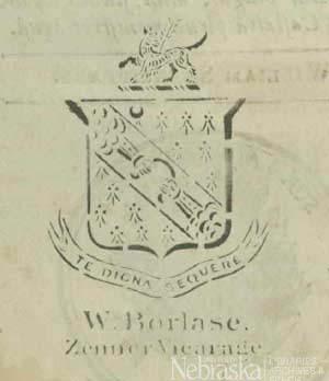 Crest of Arms of William Borlase