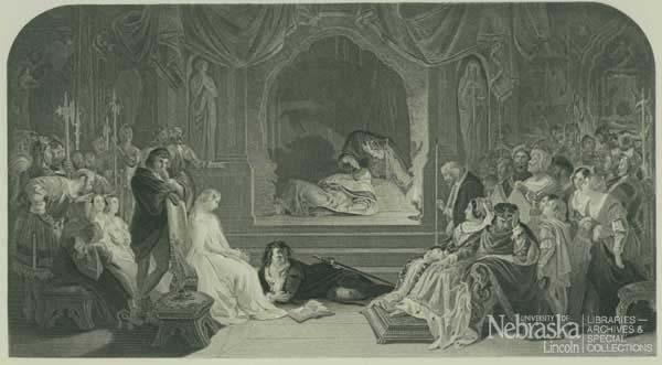 Plate of Hamlet Act iii Scene ii