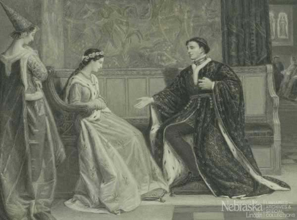Plate of Wooing of Henry V