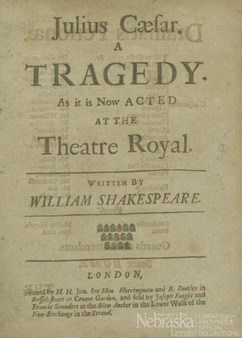 Julius Caesar Title Page