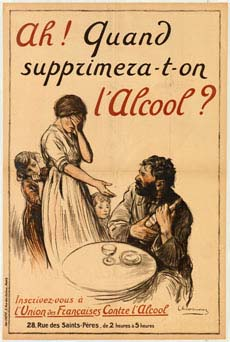 Poster encouraging the banning of alcohol