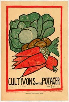 Poster encouraging individuals to garden