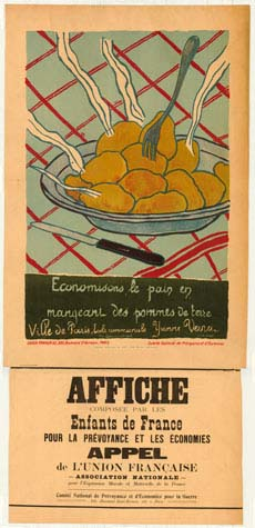 Poster encouraging consumers to eat potatoes instead of bread