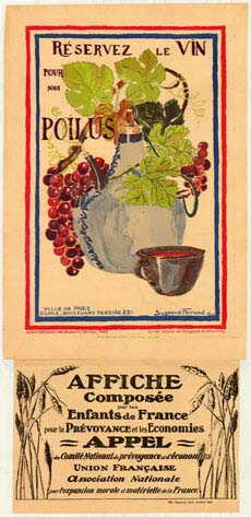 Poster encouraging consumers to reduce their consumption of wine