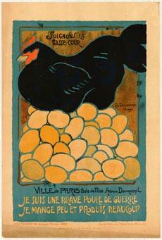War chicken poster