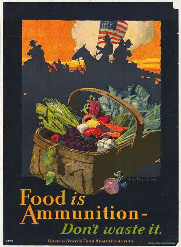 Poster encouraging consumers to not waste food.