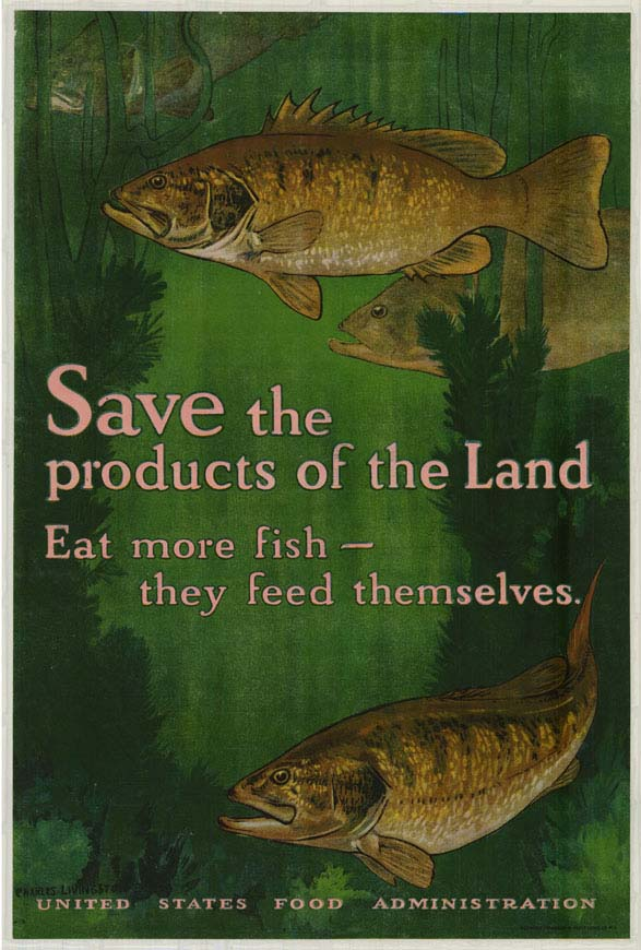 Poster encouraging consumers to eat more fish.