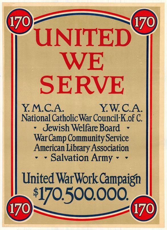 United we serve poster