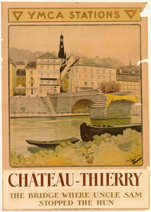 YMCA station poster related to Chateau-Thierry