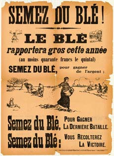 Poster encouraging people to sow wheat