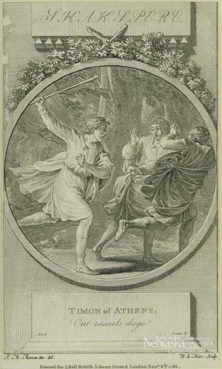 Plate of Timon chasing off