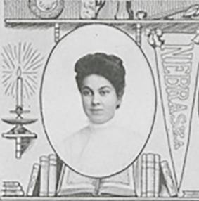 Portrait of Jean Sullivan from 1907 Cornhusker Yearbook