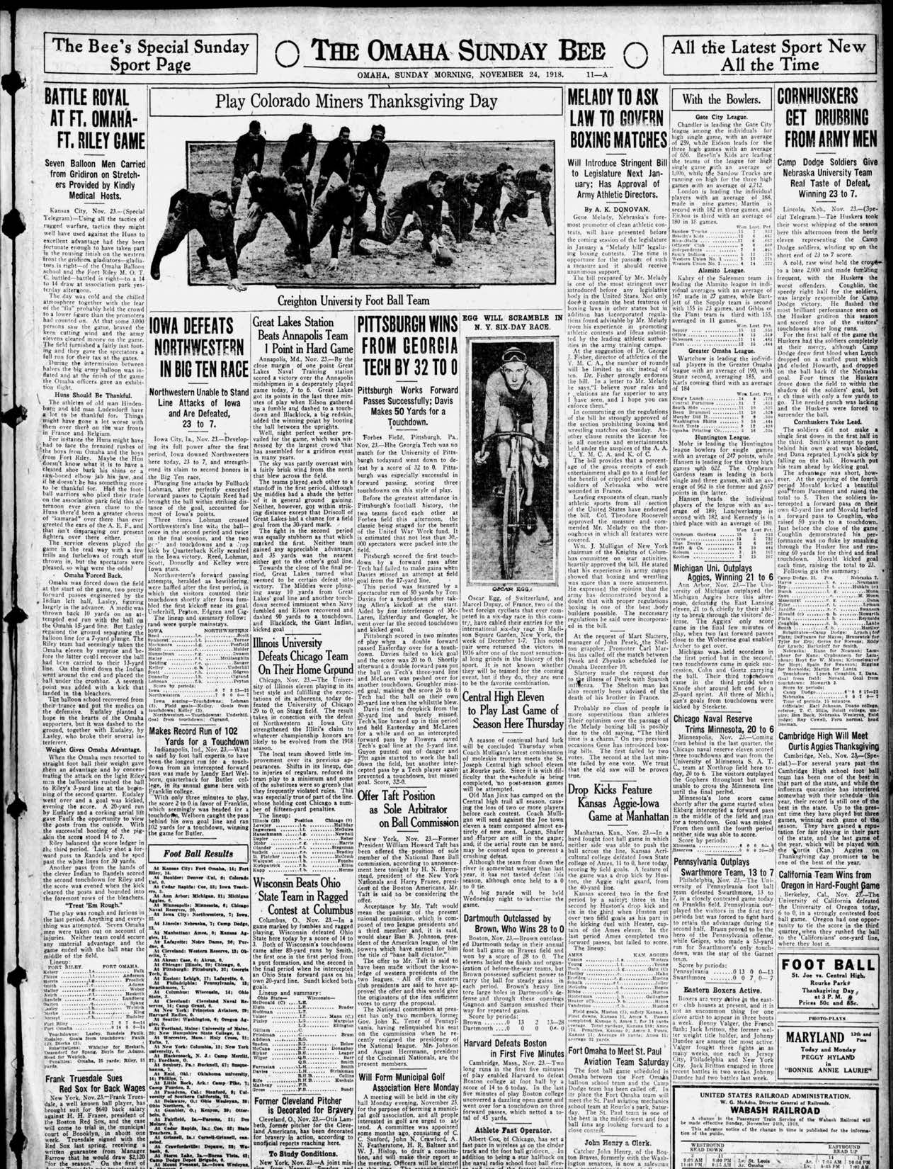Omaha Bee, 1918-11-24