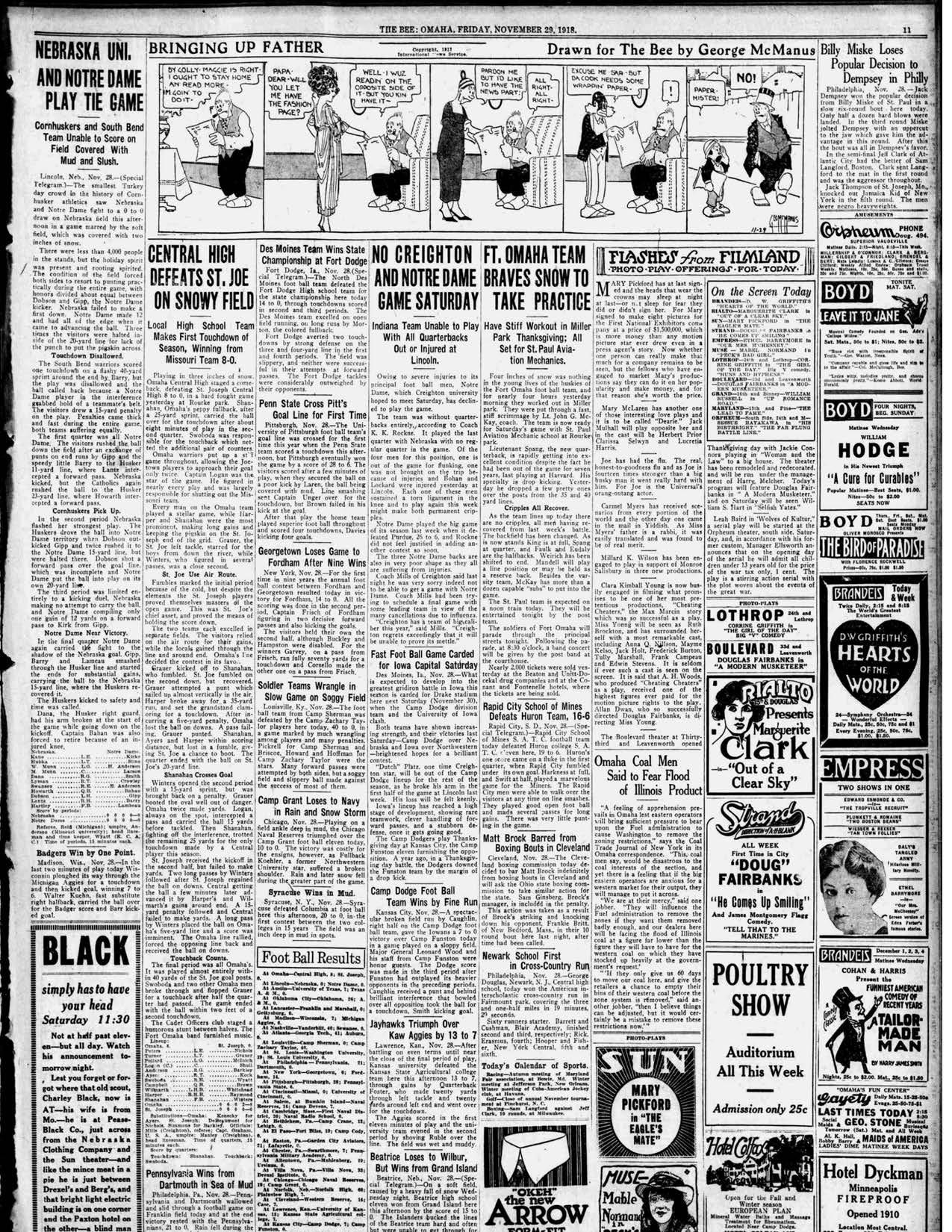 Omaha Bee, 1918-11-29