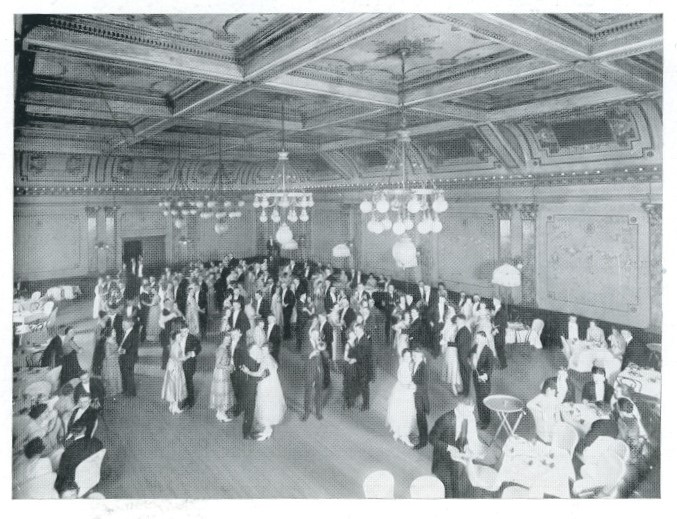 birds eye view of 1918 Senior Dance