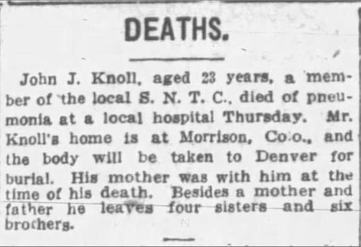 John Knoll Death Notice