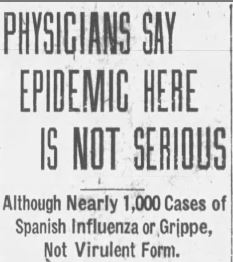"""Physicians Say Epidemic Here is not Serious"""